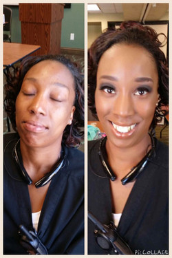 WOC makeup before and after