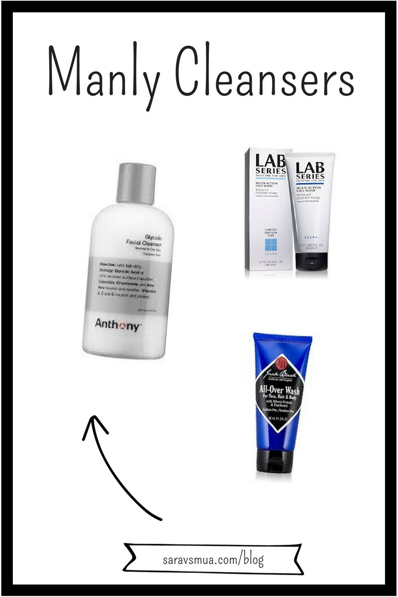 men skin care cleansers, lab series, anthony, jack black cleanser, men face wash