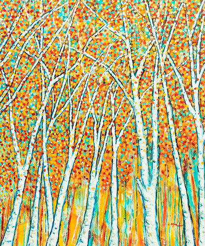 Autumn Trees - contemporary painting - Artstudio29