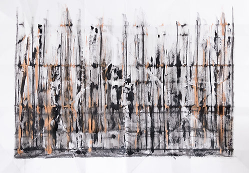 Mnemonic codes - abstract contemporary painting by C.Stefan (ArtStudio29)