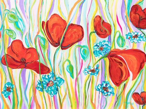 Garden in bloom - original contemporary semi-abstract painting - ArtStudio29