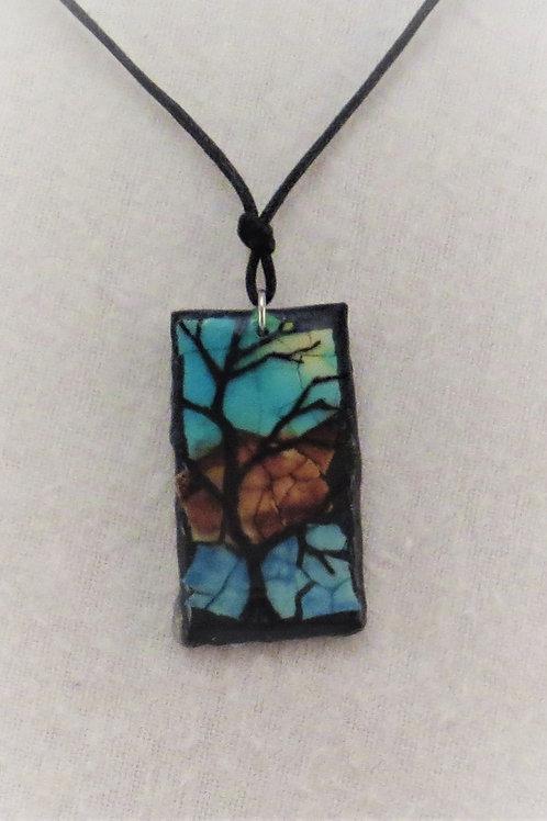 Eggshell Mosaic Pendants - Tree Series