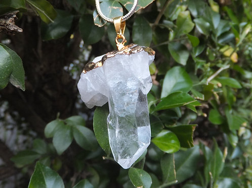 Clear Quartz Geode Point Pendant