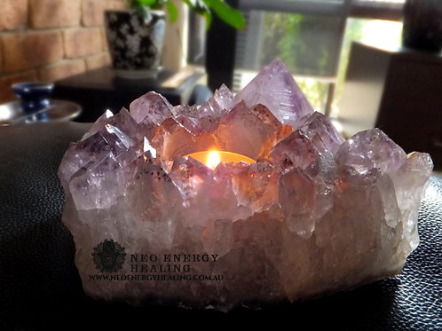 Amethyst Candle Holder - Tea Light Candle Holder