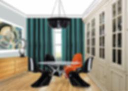 дизайн квартиры в стиле ар-деко