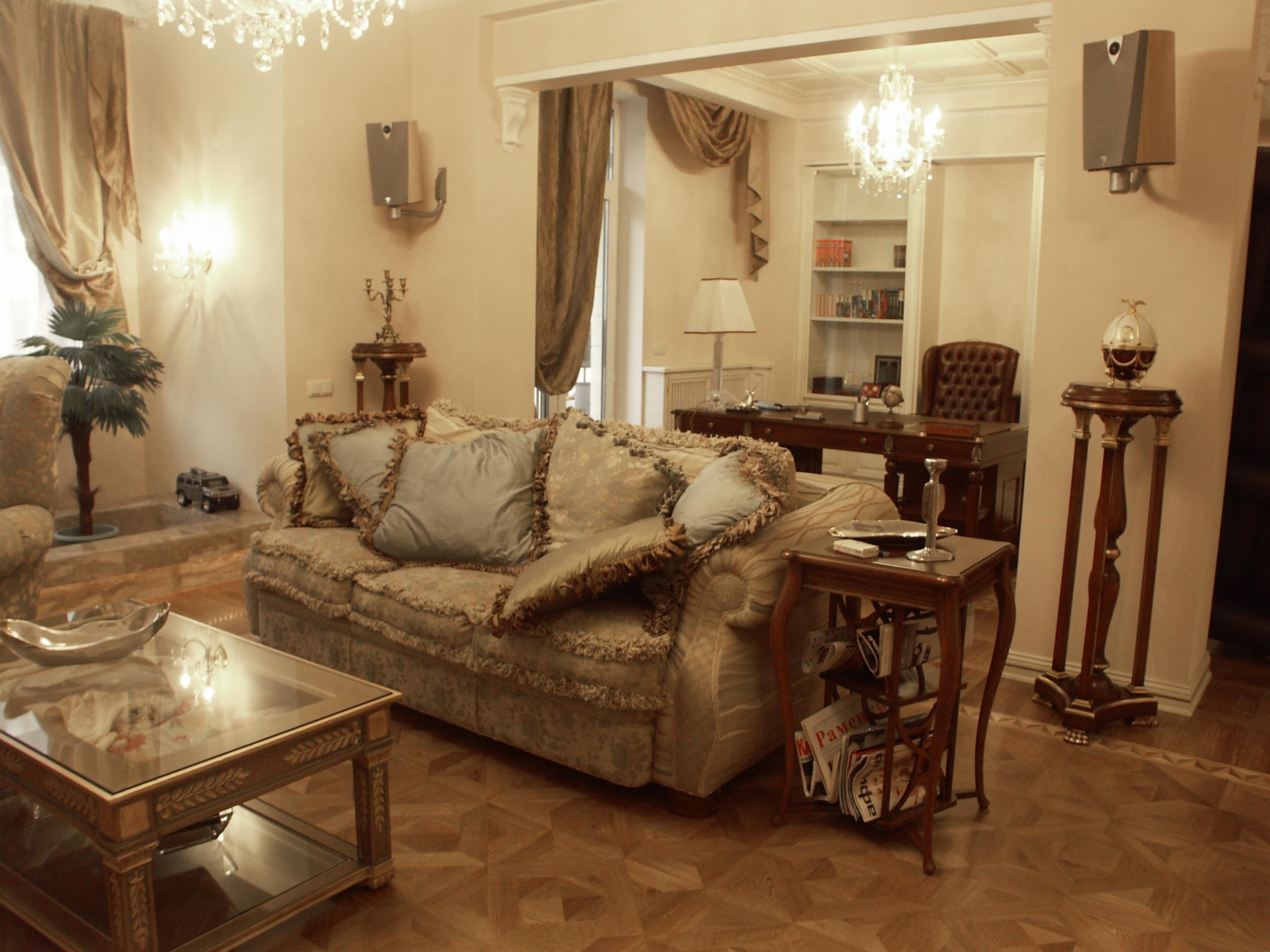 Гостиная и открытый кабинет