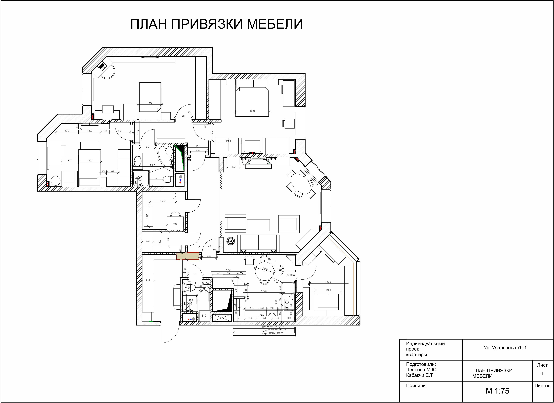 План привязки мебели Журавлевы