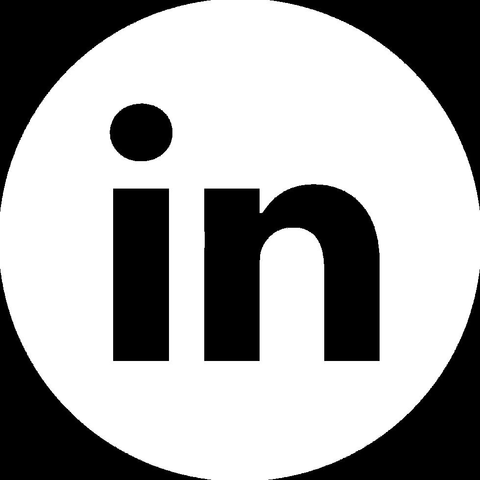 linkedin icon white