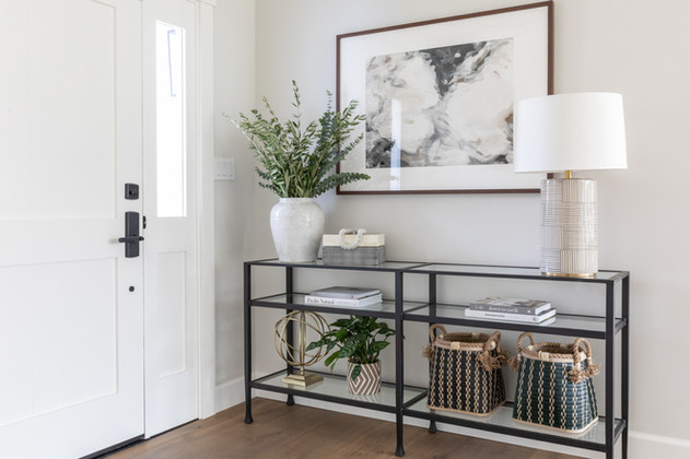 Entry table styling by Cabana Rehab Interiors