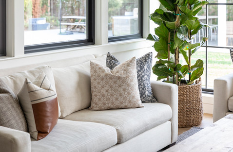 Pillow styling by Cabana Rehab Interiors
