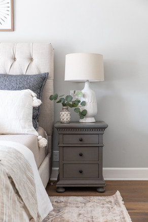 Warm and neutral master bedroom