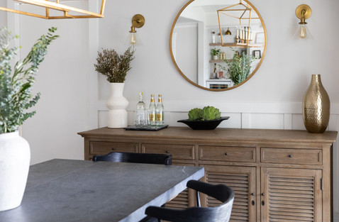 Modern farmhouse dining room buffet by Cabana Rehab Interiors