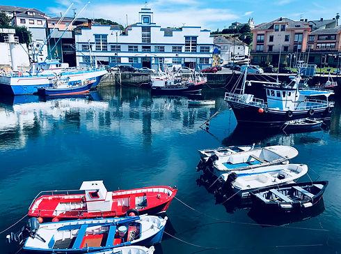 Landscape of the seaport of Puerto de Ve