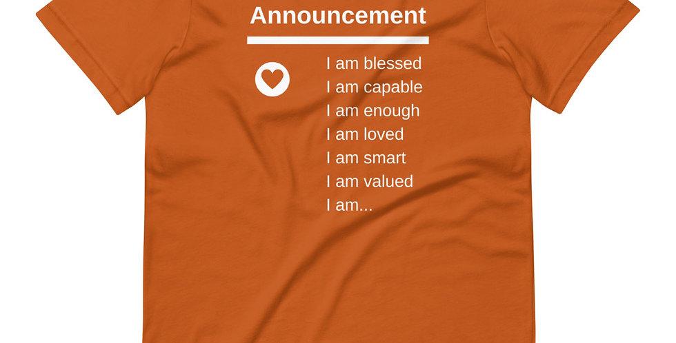 Announcement *  I Am