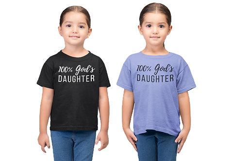 100% God's Daughter *Toddler Girl