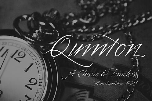 Quinton.Script Font (Extended License)