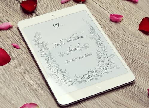 Italic Variation (Flourish) - Practice Workbook (iPad pro)