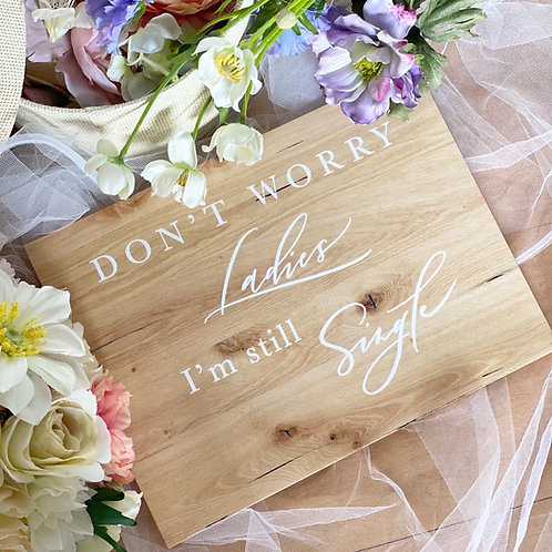 Pageboy Wooden Signs Set