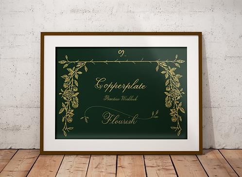 Copperplate (Flourish) Practice Workbook (iPad pro)
