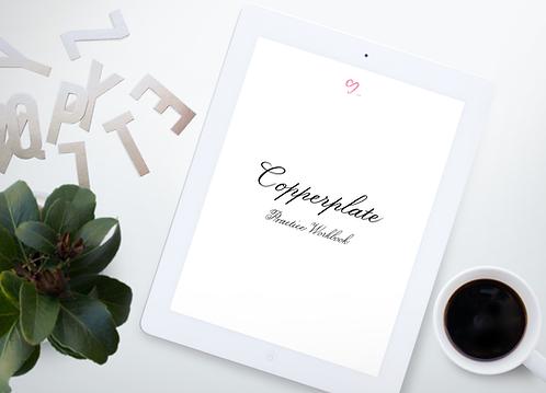 Copperplate (Beginner's Level) Practice Workbook (iPad pro)