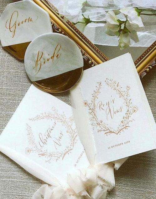 Wedding Vow Covers (Custom Names & Design)