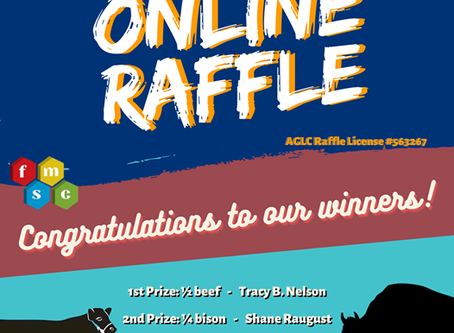Online Raffle Winners!!!