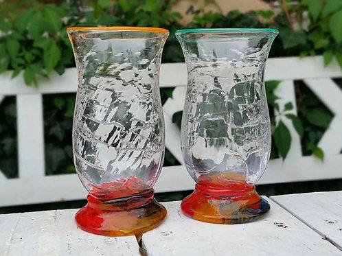 Vann og vinglass
