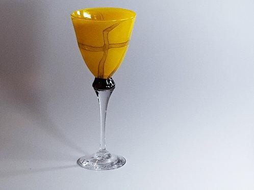 Kunstglass Orange krysseglass