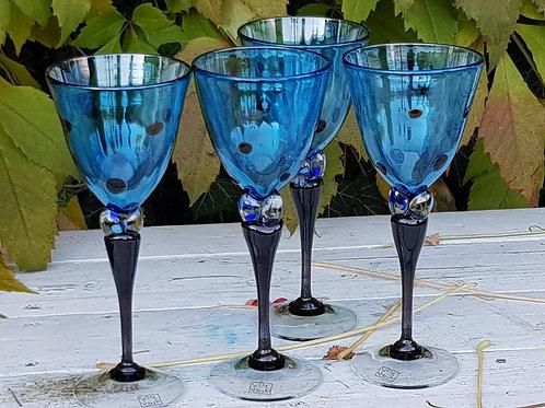 Kunstglass aquablå hjerteglass