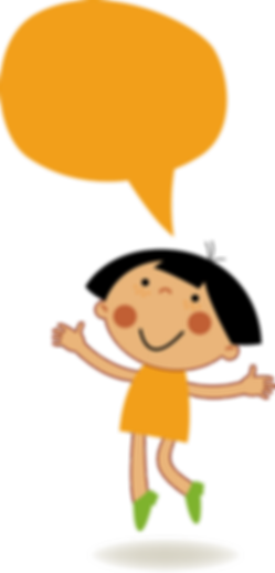 Orange Girl Speaking