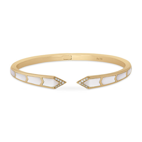 Junonia Bangle - White Mother of Pearl