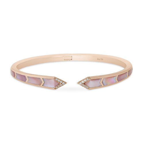 Junonia Bangle - Pink Mother of Pearl
