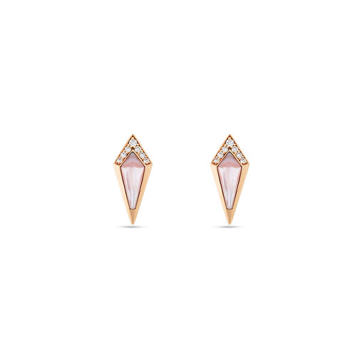 Junonia Stud - Pink Mother of Pearl