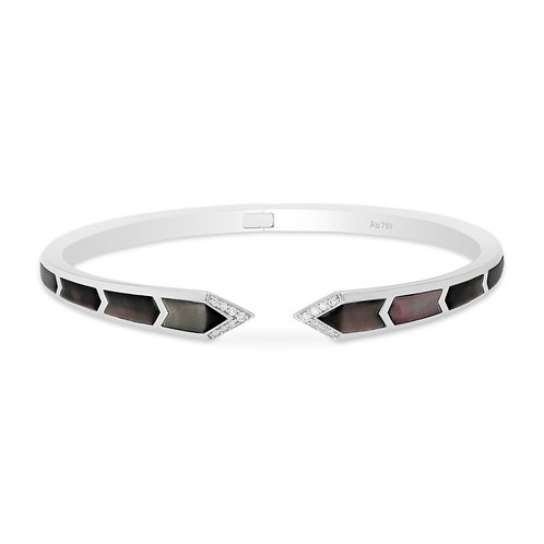 Junonia Bangle - Black Mother of Pearl