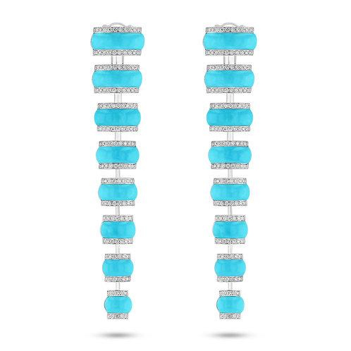 Maldivian Shell Earrings - Turquoise