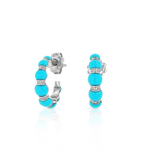 Mini Cerith Hoops - Turquoise