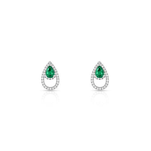 Lanka Earrings - Emerald