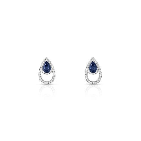 Lanka Earrings - Sapphire