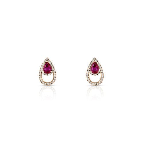 Lanka Earrings - Ruby
