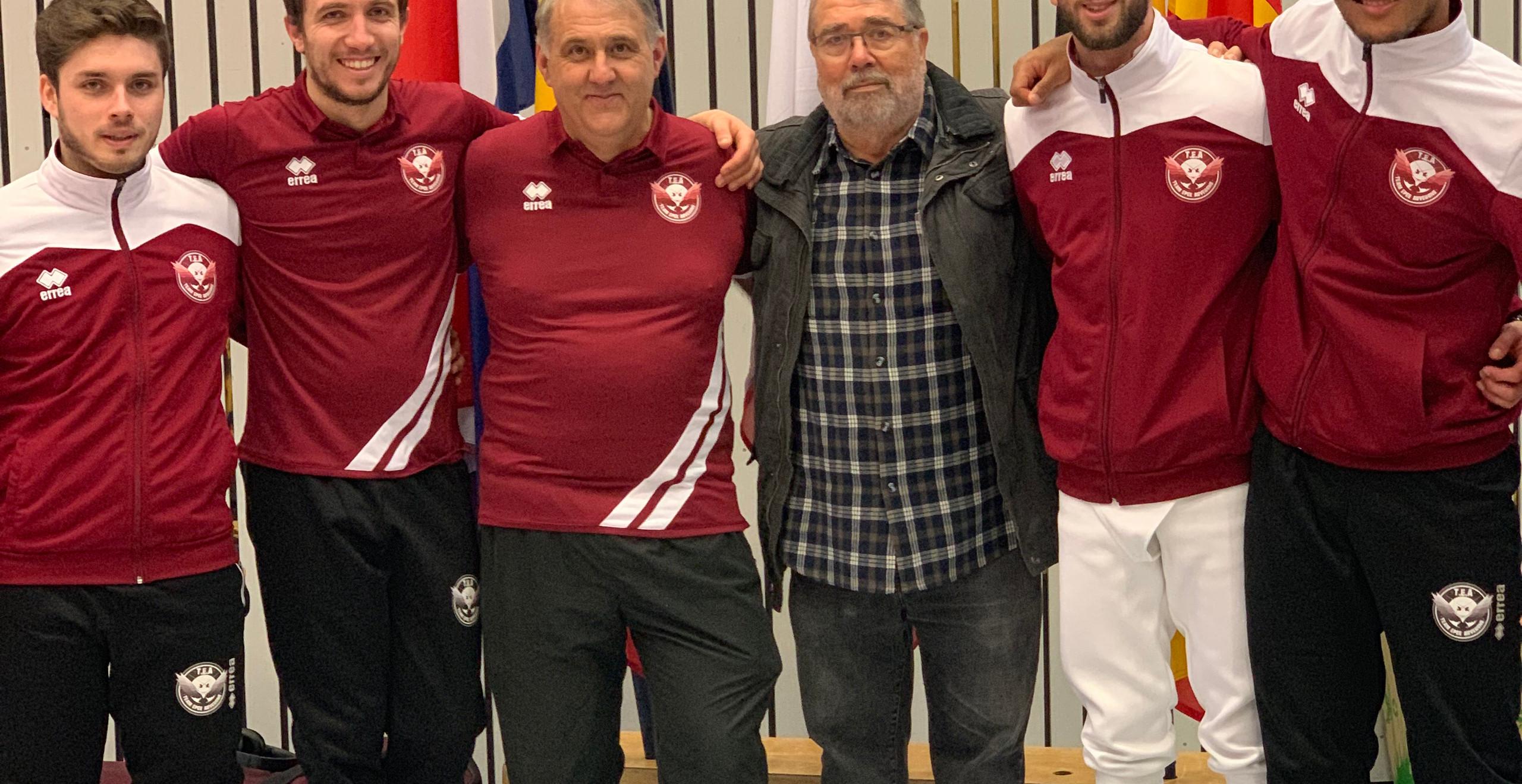 Etienne ALAVOINE LONGUET,  Thibault CHRISTIN, Maître Roger MIR, Gérard VERBEKE (Président du club) Julien ROBERT,  Adrien SIMON.