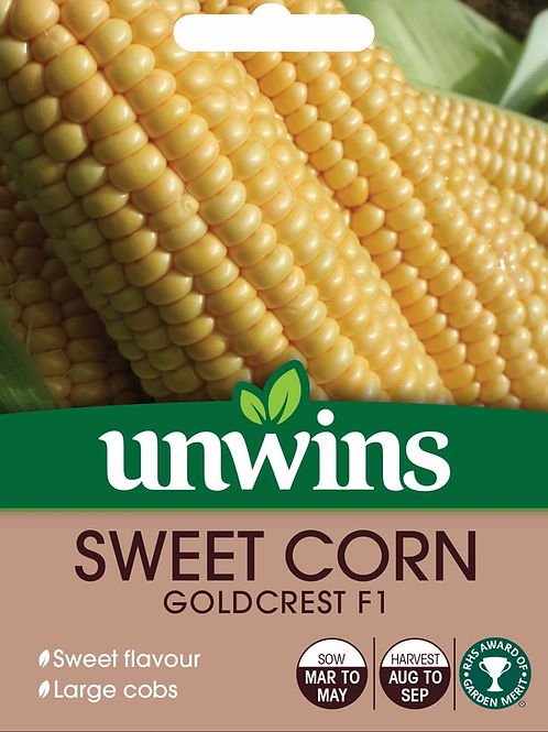 Unwins Sweetcorn Goldcrest F1