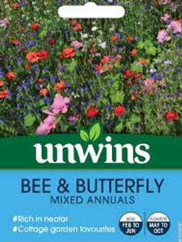 Unwins Bee & Butterfly Mixed Annuals
