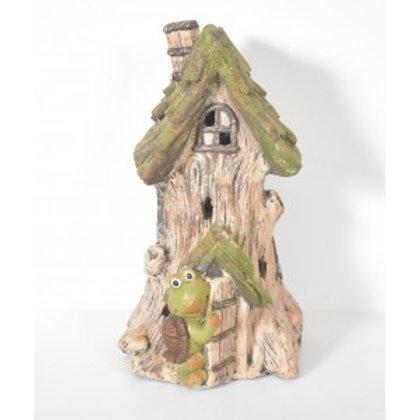 FAIRY-HOUSE FROG Garden Ornament