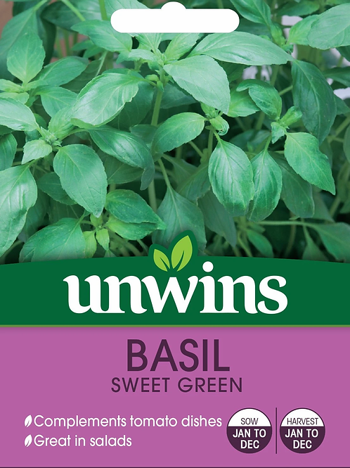 Unwins Basil Sweet Green