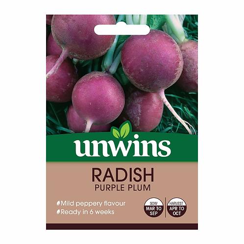 Unwins Radish Purple Plum