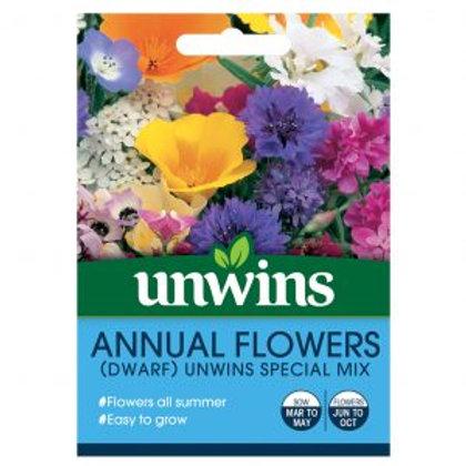 Unwins Annual Flowers Dwarf Special Mix