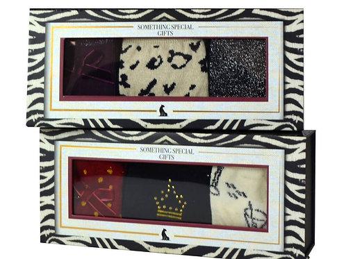 Ladies 3 pair socks in presentation box