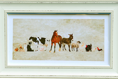 Farm Animals Rectangular Frame Photo
