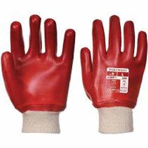 PVC Knit Wrist Glove Red