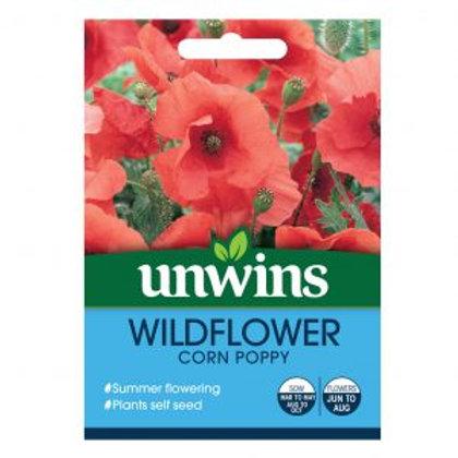 Unwins Wild Flower Corn Poppy